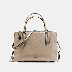 BROOKLYN CARRYALL 34 - STONE/CHESTNUT/DARK GUNMETAL - COACH F57276