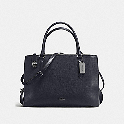 BROOKLYN CARRYALL 34 - NAVY/DARK GUNMETAL - COACH F57276
