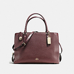 BROOKLYN CARRYALL 34 - OXBLOOD/LIGHT GOLD - COACH F57276