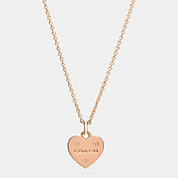 HEART RIVET NECKLACE - ROSEGOLD - COACH F57344