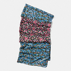 COACH FLORAL PATCHWORK OBLONG SCARF - MULTICOLOR - F57400