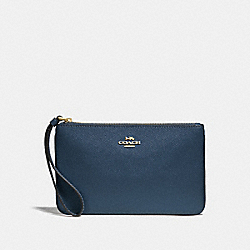 LARGE WRISTLET - DENIM/LIGHT GOLD - COACH F57465