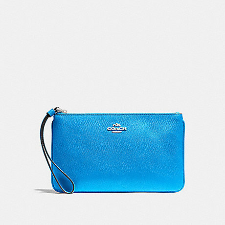 COACH LARGE WRISTLET - BRIGHT BLUE/SILVER - f57465