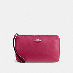 LARGE WRISTLET - SILVER/HOT PINK - COACH F57465