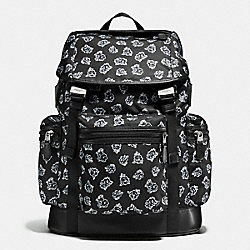 COACH TERRAIN TREK PACK IN FLORAL NYLON - BLACK/WHITE FLORAL - F57476