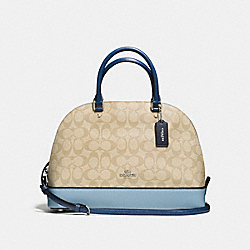 SIERRA SATCHEL IN COLORBLOCK SIGNATURE - f57494 - SILVER/KHAKI/BLUE MULTI