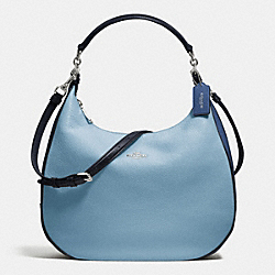 COACH HARLEY HOBO IN GEOMETRIC COLORBLOCK POLISHED PEBBLE LEATHER - SILVER/MIDNIGHT BLUE MULTI - F57500