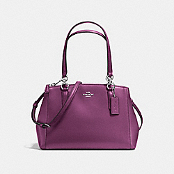 COACH SMALL CHRISTIE CARRYALL IN CROSSGRAIN LEATHER - SILVER/MAUVE - F57520
