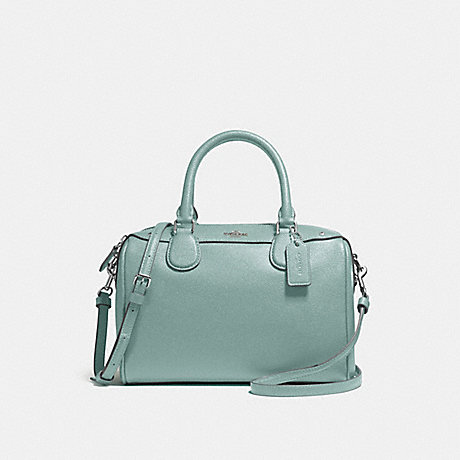 COACH MINI BENNETT SATCHEL - SILVER/AQUAMARINE - f57521