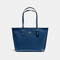 COACH CITY ZIP TOTE IN CROSSGRAIN LEATHER - IMITATION GOLD/MARINA - F57522