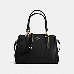 COACH MINI CHRISTIE CARRYALL IN CROSSGRAIN LEATHER - IMITATION GOLD/BLACK - F57523