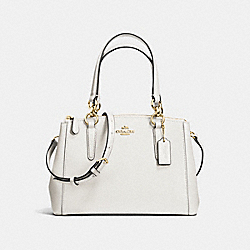 MINI CHRISTIE CARRYALL - CHALK/LIGHT GOLD - COACH F57523