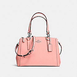 COACH MINI CHRISTIE CARRYALL IN CROSSGRAIN LEATHER - SILVER/BLUSH - F57523