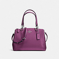 COACH MINI CHRISTIE CARRYALL IN CROSSGRAIN LEATHER - SILVER/MAUVE - F57523