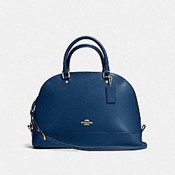 SIERRA SATCHEL IN CROSSGRAIN LEATHER - f57524 - IMITATION GOLD/MARINA