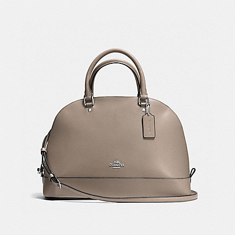 COACH f57524 SIERRA SATCHEL IN CROSSGRAIN LEATHER SILVER/FOG