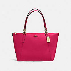 AVA TOTE IN CROSSGRAIN LEATHER - f57526 - IMITATION GOLD/BRIGHT PINK