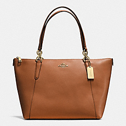 AVA TOTE IN CROSSGRAIN LEATHER - f57526 - IMITATION GOLD/SADDLE
