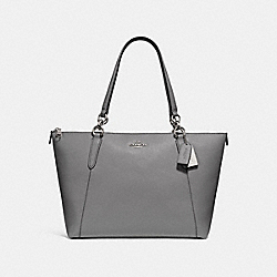AVA TOTE - HEATHER GREY/SILVER - COACH F57526