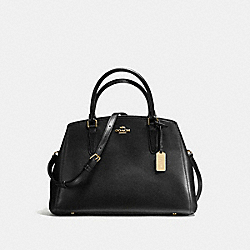 COACH SMALL MARGOT CARRYALL IN CROSSGRAIN LEATHER - IMITATION GOLD/BLACK - F57527