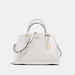 COACH SMALL MARGOT CARRYALL IN CROSSGRAIN LEATHER - IMITATION GOLD/CHALK - F57527