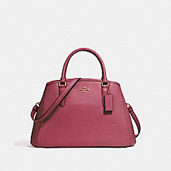SMALL MARGOT CARRYALL - LIGHT GOLD/ROUGE - COACH F57527