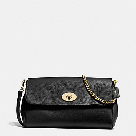 COACH RUBY CROSSBODY IN CROSSGRAIN LEATHER - IMITATION GOLD/BLACK - f57528