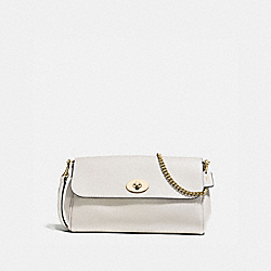 RUBY CROSSBODY IN CROSSGRAIN LEATHER - f57528 - IMITATION GOLD/CHALK