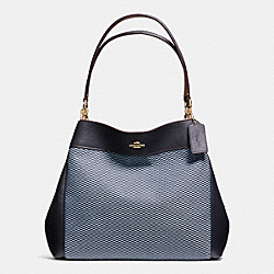 COACH LEXY SHOULDER BAG IN LEGACY JACQUARD - IMITATION GOLD/MILK MIDNIGHT - F57540