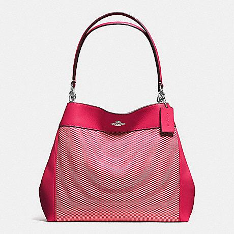 COACH LEXY SHOULDER BAG IN LEGACY JACQUARD - SILVER/MILK BRIGHT PINK - f57540