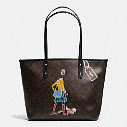 COACH BONNIE CASHIN SIGNATURE ZIP TOP TOTE - IMITATION GOLD/BROWN/BLACK - F57542
