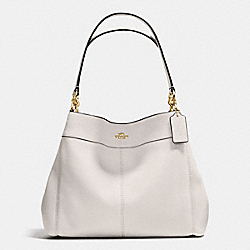LEXY SHOULDER BAG IN PEBBLE LEATHER - f57545 - IMITATION GOLD/CHALK