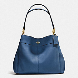 LEXY SHOULDER BAG IN PEBBLE LEATHER - f57545 - IMITATION GOLD/MARINA