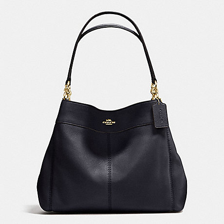 COACH LEXY SHOULDER BAG IN PEBBLE LEATHER - IMITATION GOLD/MIDNIGHT - f57545