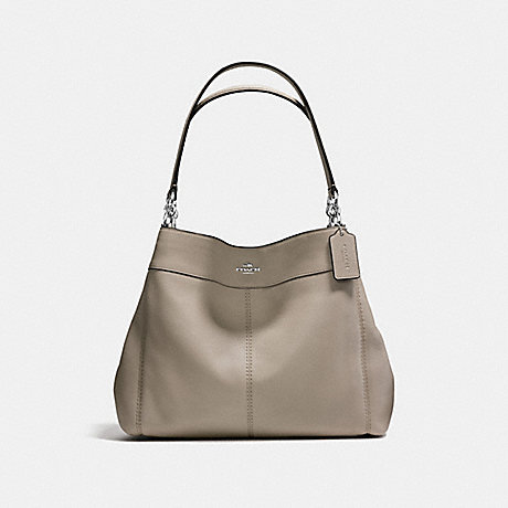 COACH f57545 LEXY SHOULDER BAG IN PEBBLE LEATHER SILVER/FOG