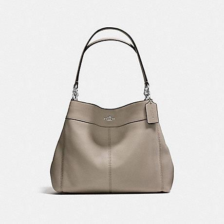 COACH LEXY SHOULDER BAG IN PEBBLE LEATHER - SILVER/FOG - f57545