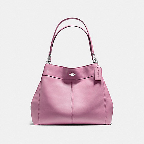 COACH LEXY SHOULDER BAG IN PEBBLE LEATHER - SILVER/LILAC - f57545