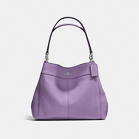 COACH f57545 LEXY SHOULDER BAG IN PEBBLE LEATHER SILVER/STRAWBERRY