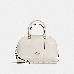 COACH MINI SIERRA SATCHEL IN CROSSGRAIN LEATHER - IMITATION GOLD/CHALK - F57555