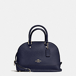 MINI SIERRA SATCHEL IN CROSSGRAIN LEATHER - F57555 - IMITATION GOLD/MIDNIGHT