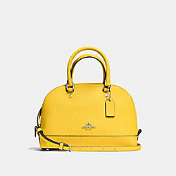 COACH MINI SIERRA SATCHEL IN CROSSGRAIN LEATHER - SILVER/BANANA - F57555