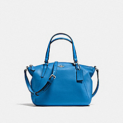 MINI KELSEY SATCHEL IN PEBBLE LEATHER - f57563 - SILVER/LAPIS