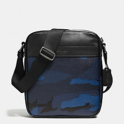 CHARLES FLIGHT BAG IN INDIGO CAMO - f57564 - LIGHT LILAC