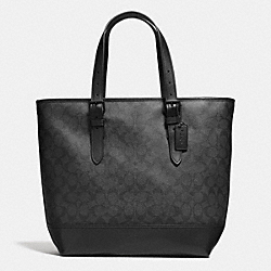 COACH HENRY TOTE IN SIGNATURE - BLACK/BLACK - F57566