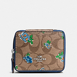 JEWELRY BOX IN FLORAL LOGO PRINT - SILVER/KHAKI BLUE MULTI - COACH F57589