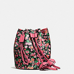 PETAL WRISTLET IN POSEY CLUSTER FLORAL PRINT COATED CANVAS - f57604 - SILVER/PINK MULTI