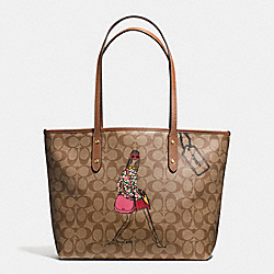COACH BONNIE CASHIN SIGNATURE ZIP TOP TOTE - IMITATION GOLD/KHAKI/SADDLE - F57617