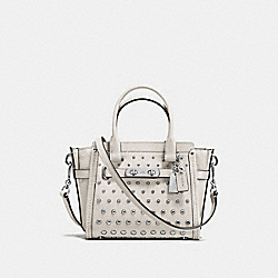 COACH SWAGGER 21 IN PEBBLE LEATHER WITH OMBRE RIVETS - SILVER/CHALK - COACH F57696