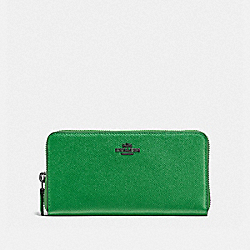 ACCORDION ZIP WALLET - DARK GUNMETAL/GRASS GREEN - COACH F57713