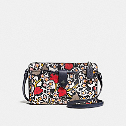 POP-UP MESSENGER WITH MIXED YANKEE FLORAL PRINT - CHALK YANKEE FLORAL MULTI/DARK GUNMETAL - COACH F57719